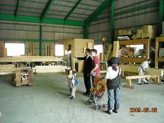 材木の製造過程を見学