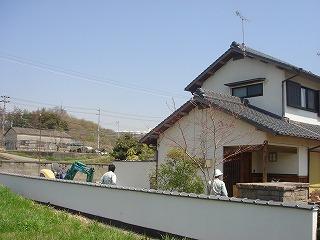 藤田邸離れの新築上棟