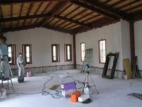 事務所新築、内装工事中