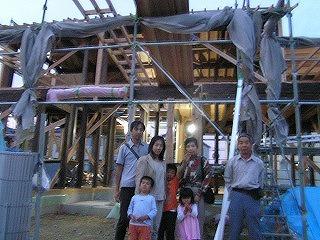 今民家、松江の家、上棟