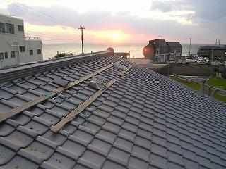 夕日がきれいな「松江の家」から・・・