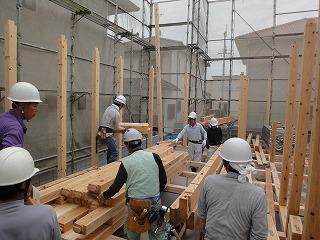 西脇Ⅱの家、手際良い建て方