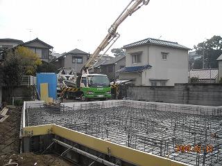 「HKハウス太寺の家」基礎工事中
