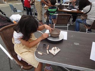 陶芸教室、カフェオレボールづくり体験