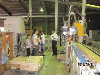 製材所とプレカット工場見学