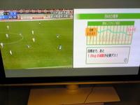 サッカー観ながらWiiFitからだ測定^^