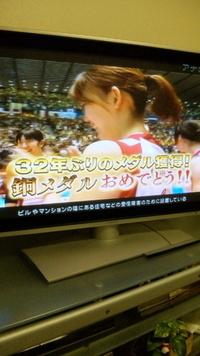 ヤッター!日本女子バレー32年ぶりのメダル!おめでとう!