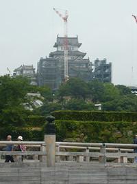 姫路城の改修状況