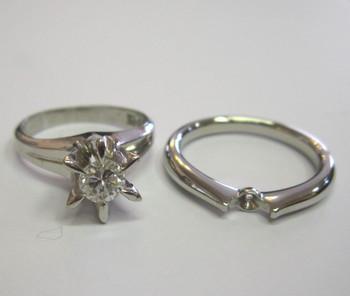 宝石リフォーム ダイヤ立爪リング