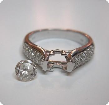 ダイヤの立爪を宝石リフォーム