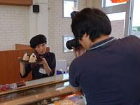 「神戸新聞さんが取材に来られました。」
