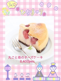 今月のおすすめチーズケーキ