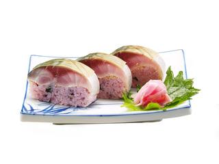 黒米〆鯖寿司