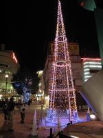 神戸新聞掲載「JR加古川駅前の電飾復活 」