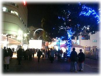 加古川駅前のイルミネーション