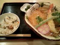 天ぷらうどん定食☆