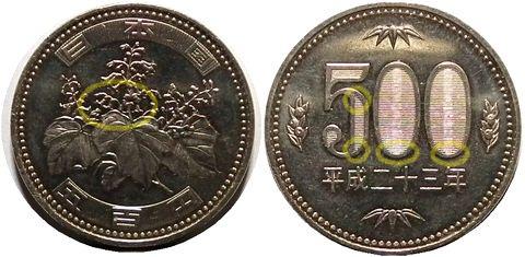 500円硬貨の秘密