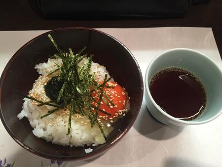 天ぷら屋さんの新メニュー「たまごかけごはん」!