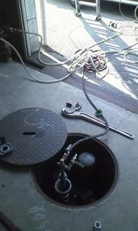 灯油地下タンクの検査