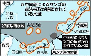 中国船団根こそぎサンゴ密漁