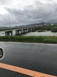 9月4日 台風通過後の加古川下流の水位