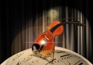 楽譜とチェロ