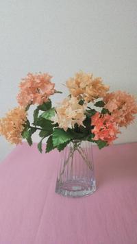 紫陽花のリボンアートフラワー♪