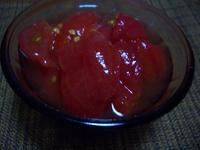 今夜はトマトをデザートに
