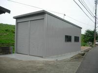 稲美町T宅の納屋(ユニットハウス)設置工事-4