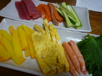 手巻き寿司パーティー☆ミツカンやさしいお酢を使用
