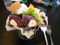 れストランゆず庵☆かつをタタキパフェ(高知県南国市)