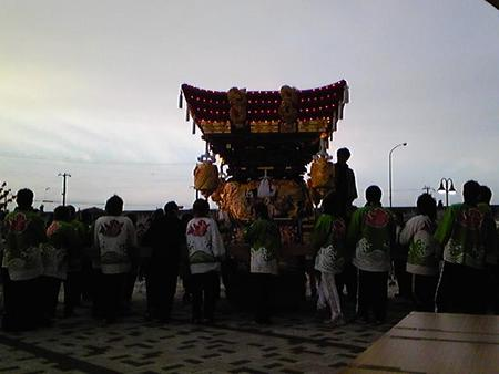 イトーヨーカドーでお披露目(御厨神社秋祭り)