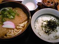 池田製麺所 真心うどん☆きつねうどん定食(高砂市阿弥陀町)
