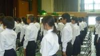 香寺中学校 トライやるウィーク事前マナー講習会
