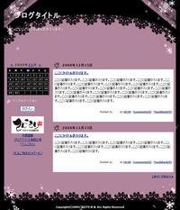 レース(黒×紫)