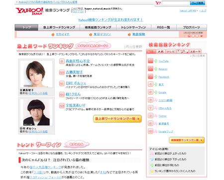 Yahoo!検索ランキング
