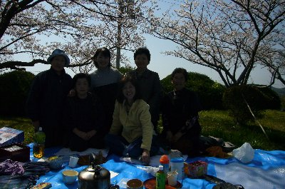 日笠山でお花見