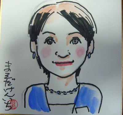 イーグレ姫路で前田賢一さんの似顔絵体験