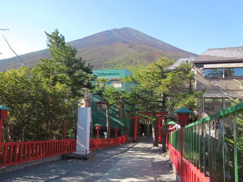 小御嶽神社からの富士