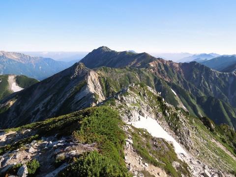 鷲羽岳からの水晶岳