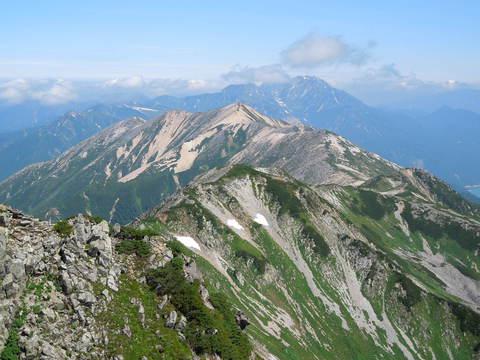 水晶岳からの立山
