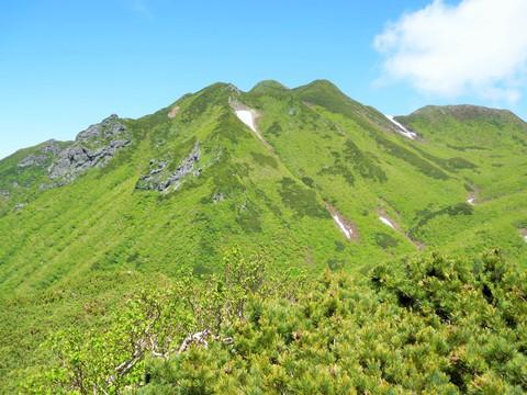 斜里岳山頂付近