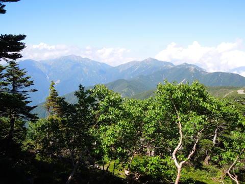 光岳山頂からの眺望