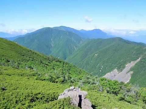 仁田岳からの光岳