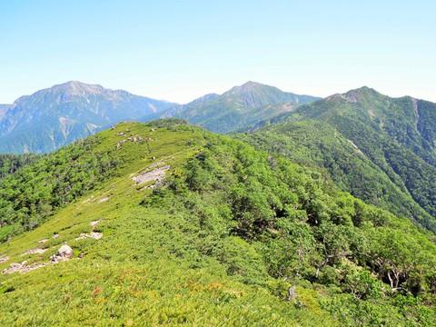仁田岳からの聖岳