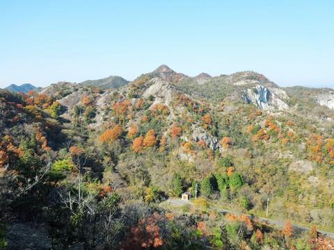笠松山を望む