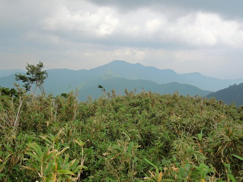 三室山を望む