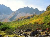 紅葉の北穂高岳に登る