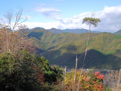 水剣山と長水山