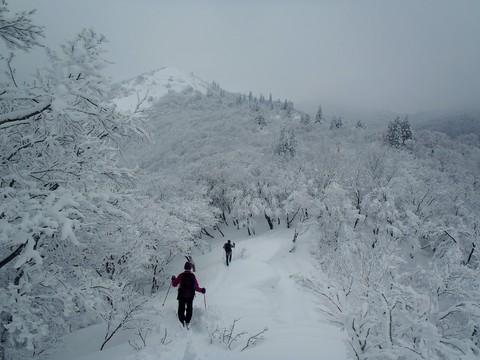武奈ヶ岳山頂へ出発